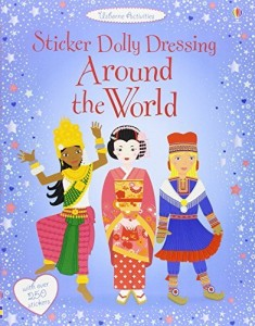Sticker Dolly Dressing. Around the World