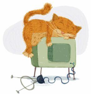 Lazy Cat - International Cat Day - Story Snug
