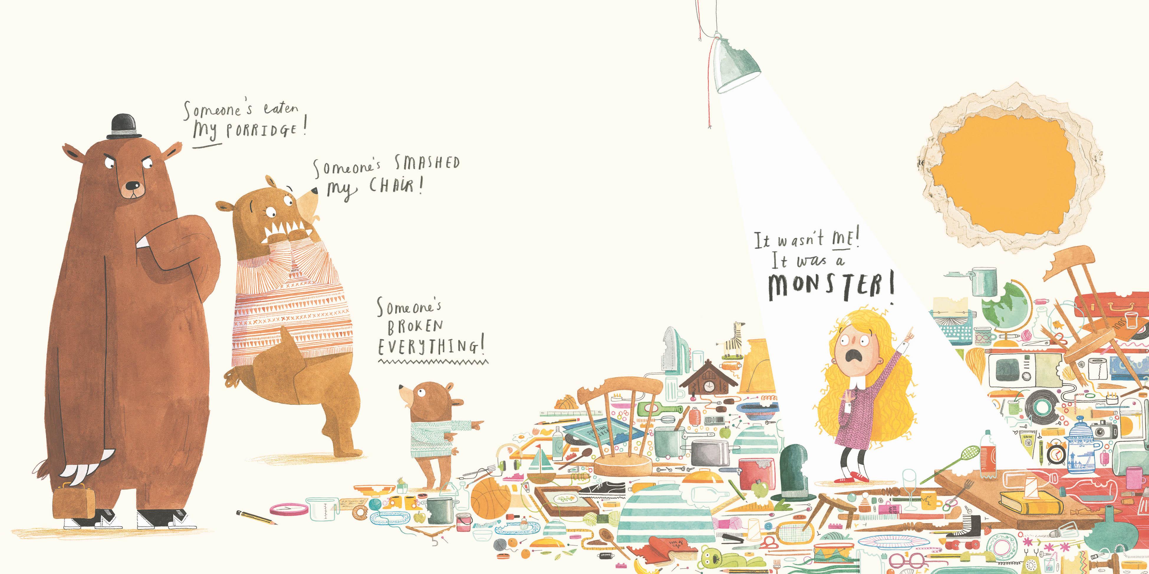 Emma Yarlett Goldilocks Fairytales - Story Snug