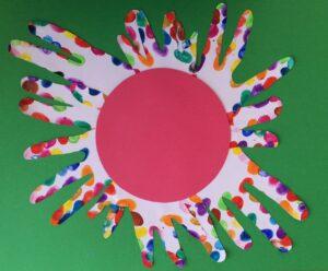Handprint flower Story Snug http://storysnug.com