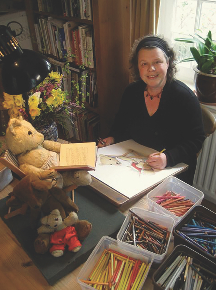 Jane Hissey with Old Bear - Story Snug