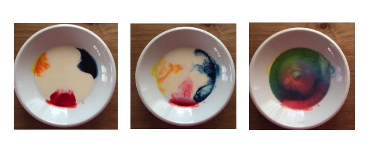 Colour mixing milk experiment Story Snug