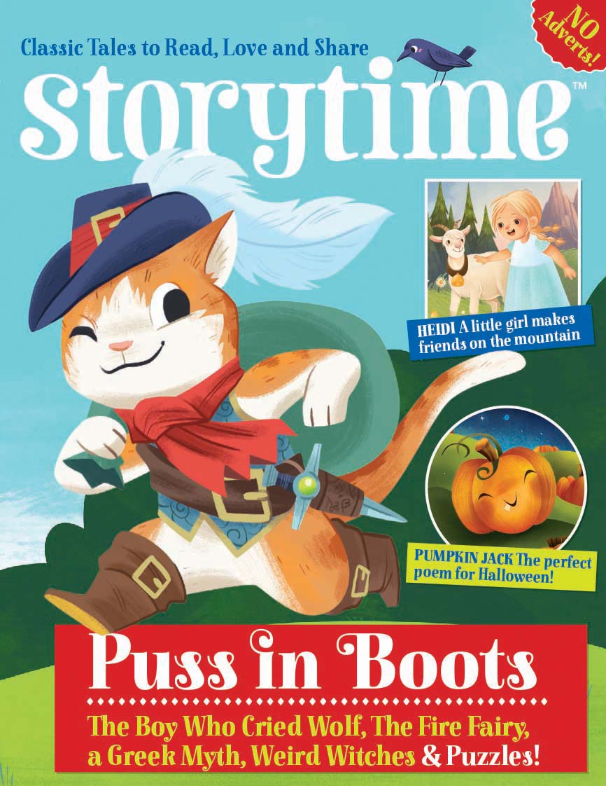 Storytime Puss in Boots Cover - Story Snug fairytale